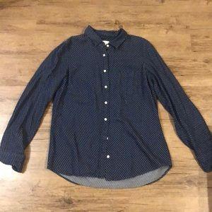 JCrew Boy Shirt Button Up polka dots